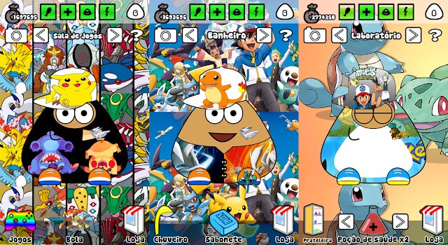 Pou Mod Pokemon v1.4.46 [ Pokemon / Moedas Infinitas ]