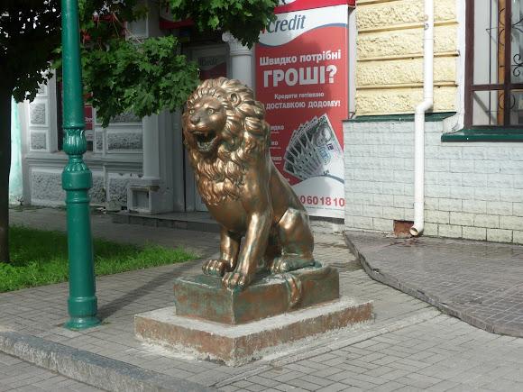 Сумы. Скульптура льва
