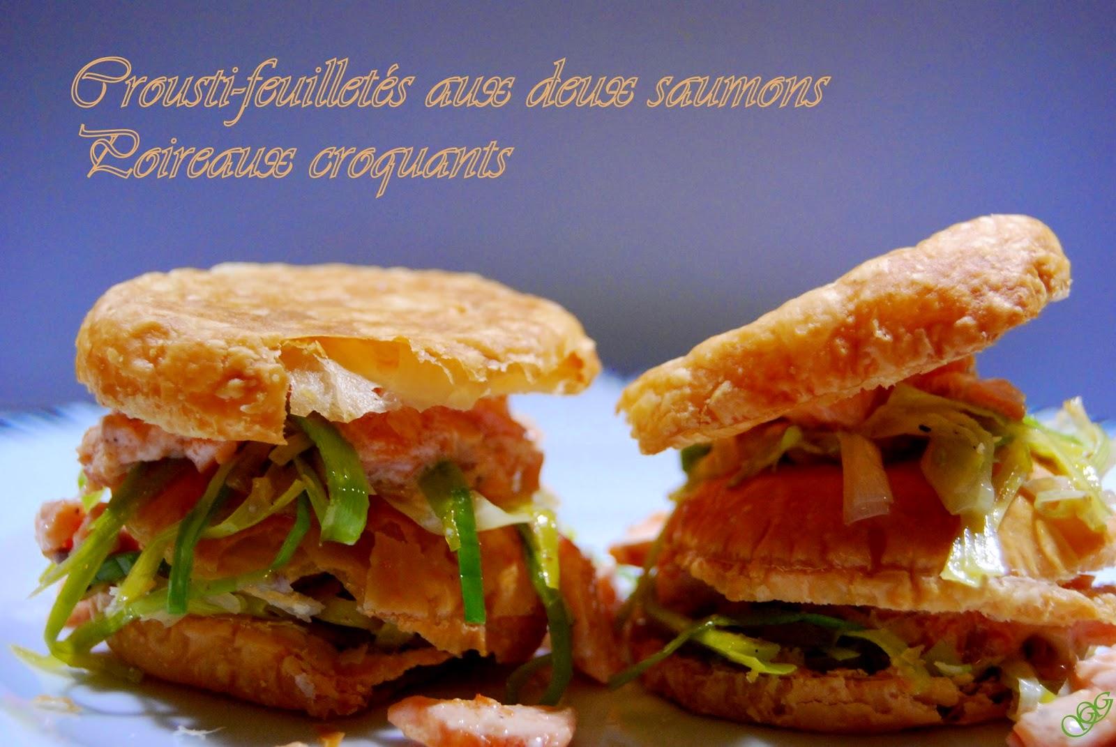 Crousti-feuilletés aux deux saumons