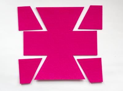 box bottom template - Caixinha de feltro