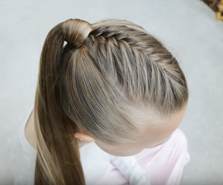 Luxury Makeup -  (French Fishtail Ponytai Tutorial Hairstyle  2018)