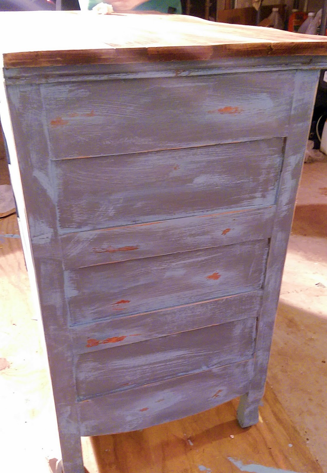 Meg Made Creations How To Make Wood Furniture Look Old Antique Distressed With Paint