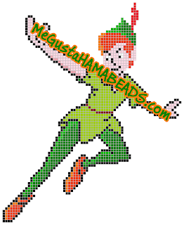 hama beads peter pan