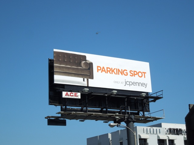 JC P split Perfect Parking Spot bilboard