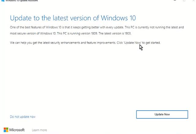 كيفية تحديث الويندوز 10 إلى Windows 10 Version 1903 بدون فورمات