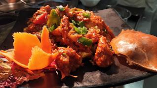Cooked crab in schezwan sauce Food Recipe Healthy Dinner Recipe