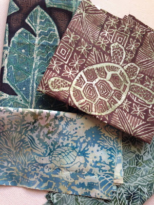 A selection of tropical fabrics