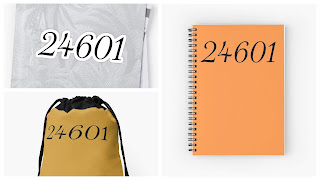 24601 Sticker Bag and Notebook Redbubble