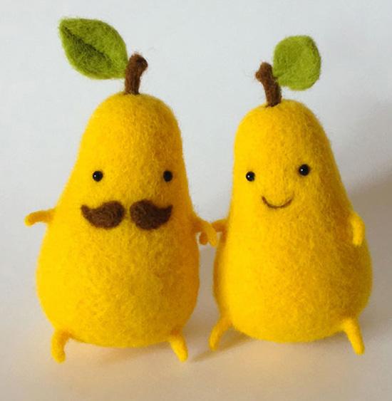 pear felt wool