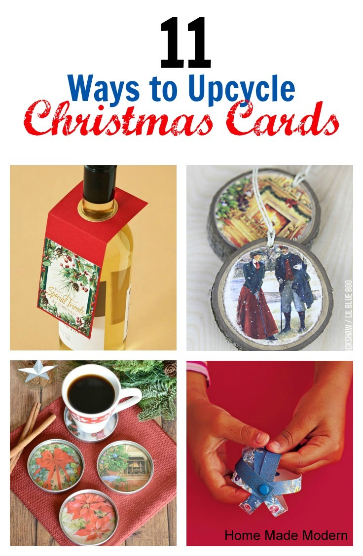 How to recycle christmas cards home made modern for How to recycle old christmas cards