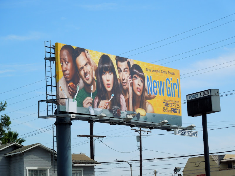 New Girl season 2 billboard
