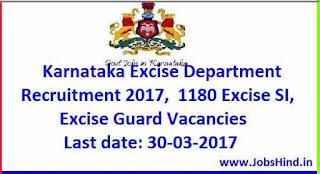 Karnataka Excise Department Recruitment 2017