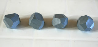 My faceted polymer clay beads