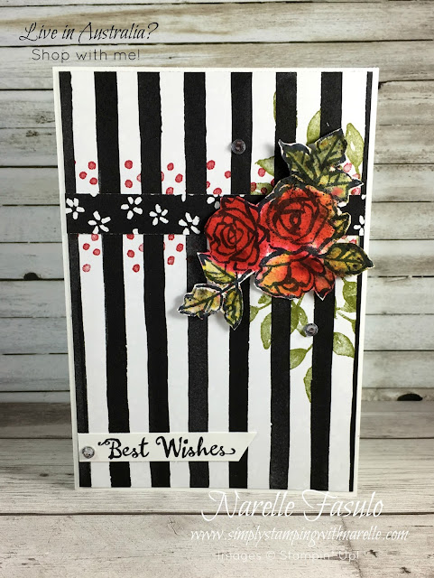 Petal Palette Stamp set meets Brusho - Fabulous fun creating this card - Get all the supplies you need here - https://www3.stampinup.com/ecweb/default.aspx?dbwsdemoid=4008228