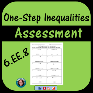 one step inequalities assessment