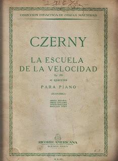 escuela velocidad Czerny