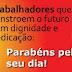 Mensagem do prefeito Dr. Tadeu de Sousa ao dia do trabalhador