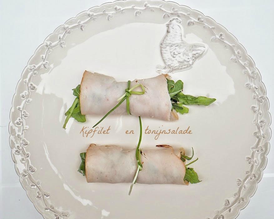 Rolletjes van kipfilet en tonijnsalade - Voorgerechten