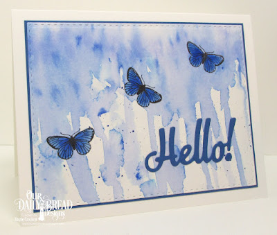 ODBD Butterfly and Bugs, ODBD Custom Hello Die, ODBD Custom Double Stitched Rectangles Dies, Card Designer Angie Crockett