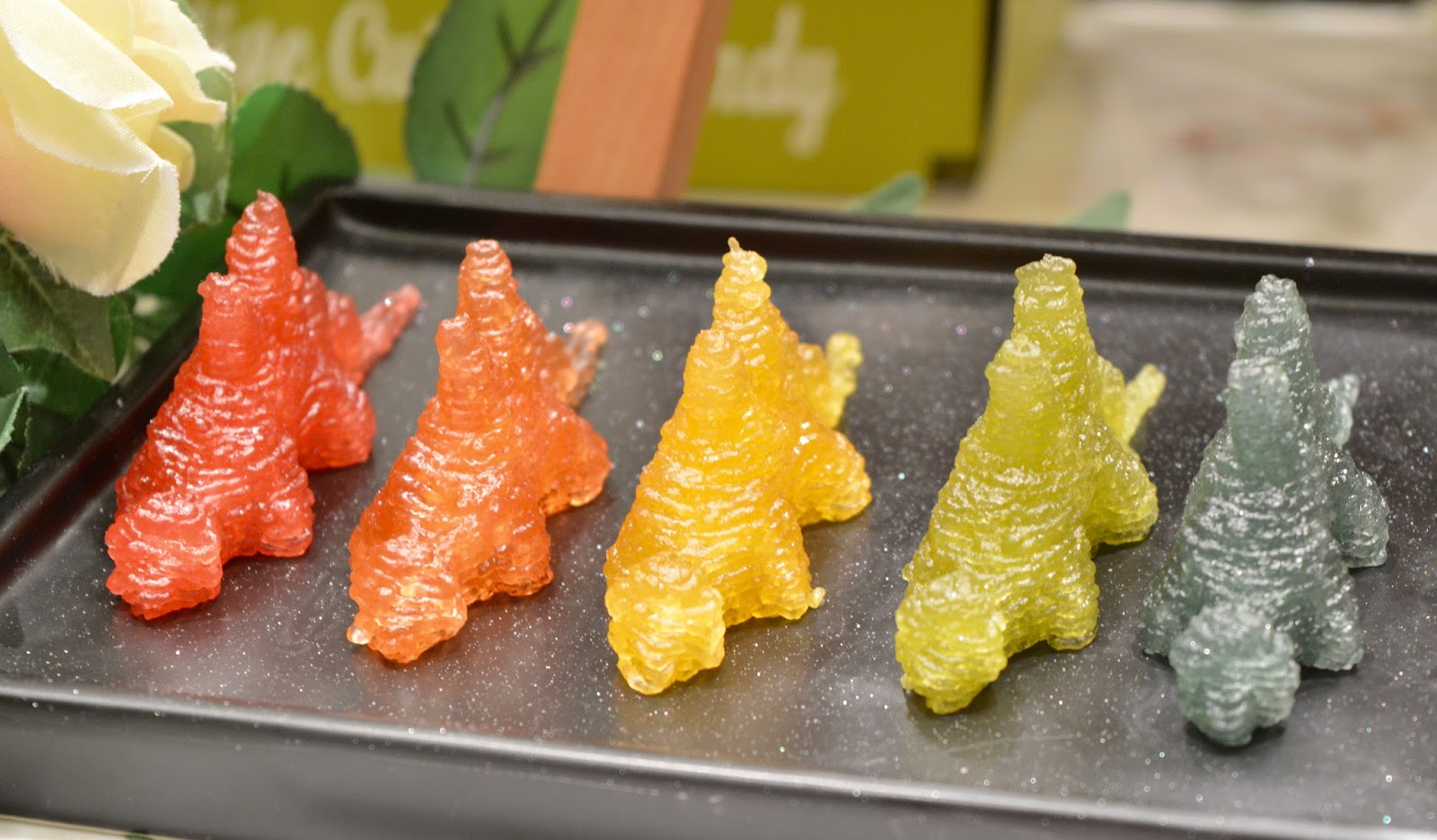 Create Magic Sweet Selfies with Katjes Magic Candy Factory at Fenwick Newcastle this Easter - dinosaur gummy sweets