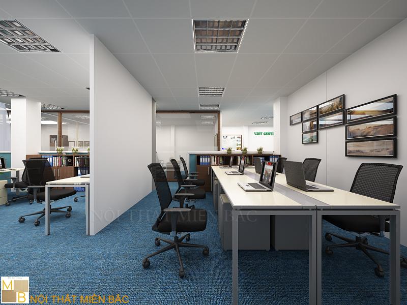 Thiết kế nội thất phòng làm việc chuyên nghiệp thương hiệu Nội thất Miền Bắc
