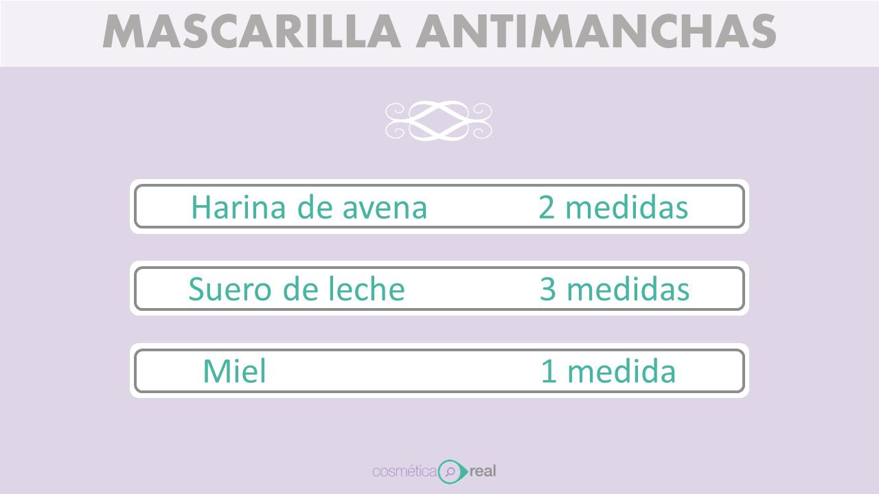 Mascarilla casera antimanchas