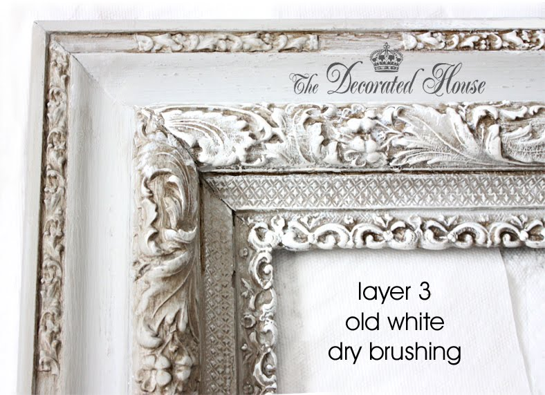 The Decorated House :: DIY Chalk Paint on Vintage Frame