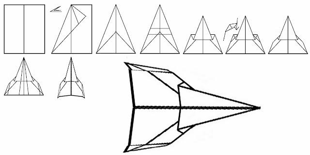 Avión de papel Wing 34