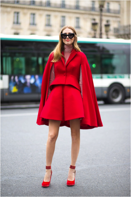 PFW 2015 Street Style: Seeing Red