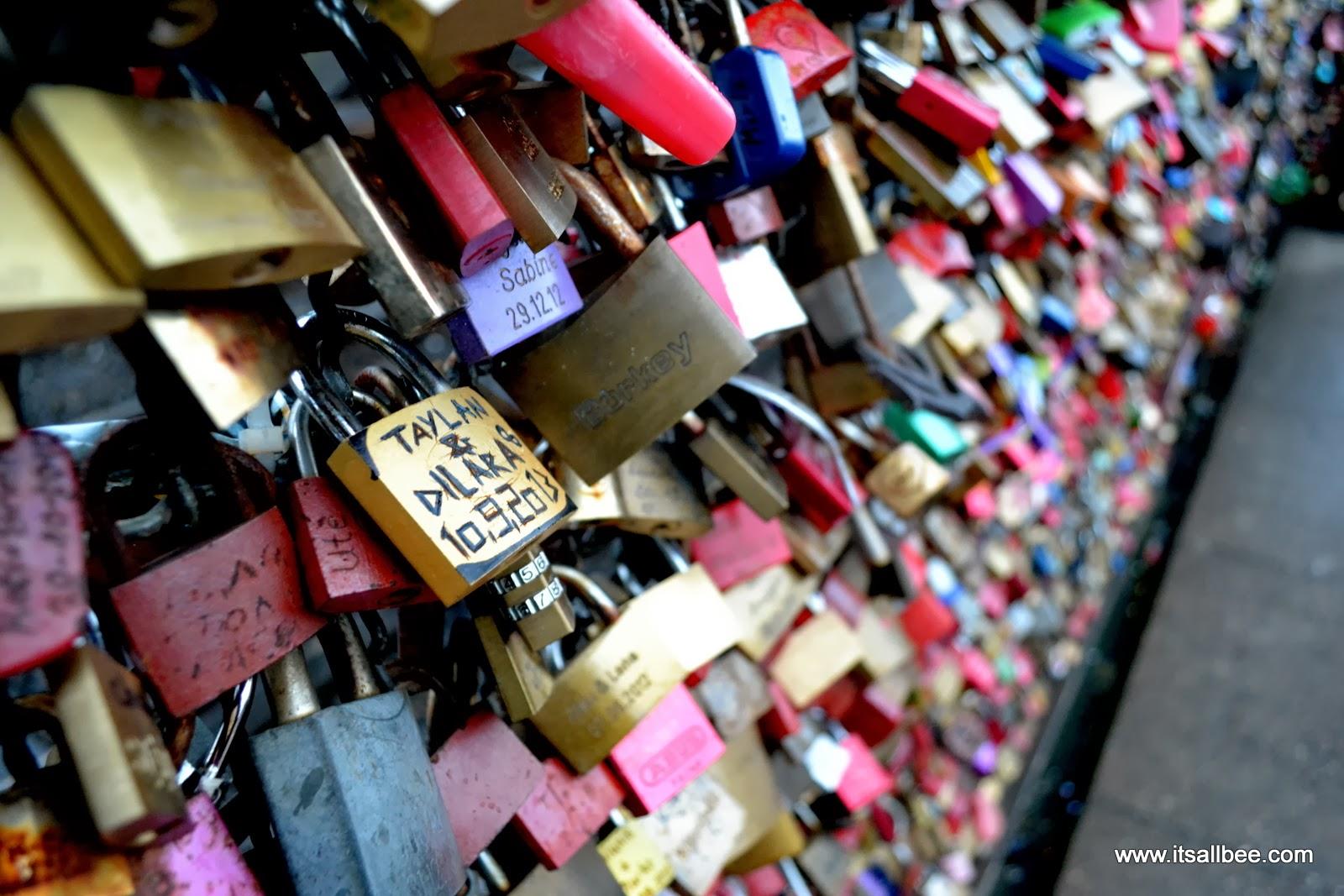 Cologne's Love Locks Bridge   Love Locks On Hohenzollern Bridge In Cologne Germany