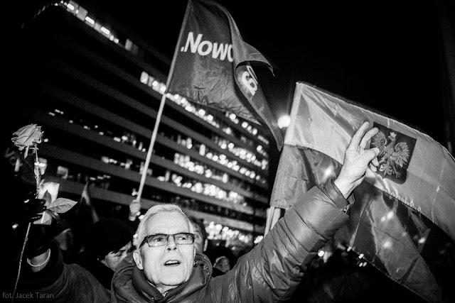 wolne sądy, demontracja, konstytucja, krakow, fot. Jacek Taran