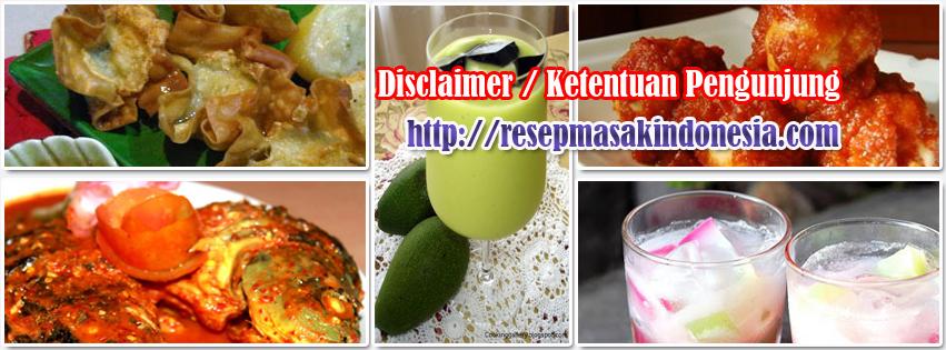 Ketentuan Pengunjung Resep Masakan Indonesia
