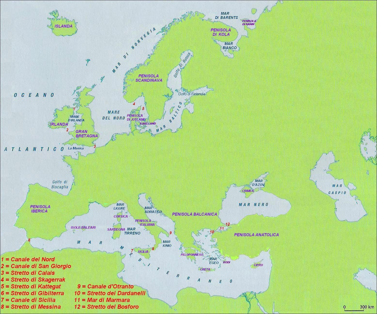 Imparare Con La Geografia 9 Mari Penisole E Isole In Europa