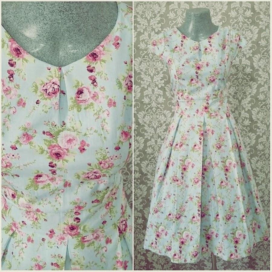vestido vintage de flores