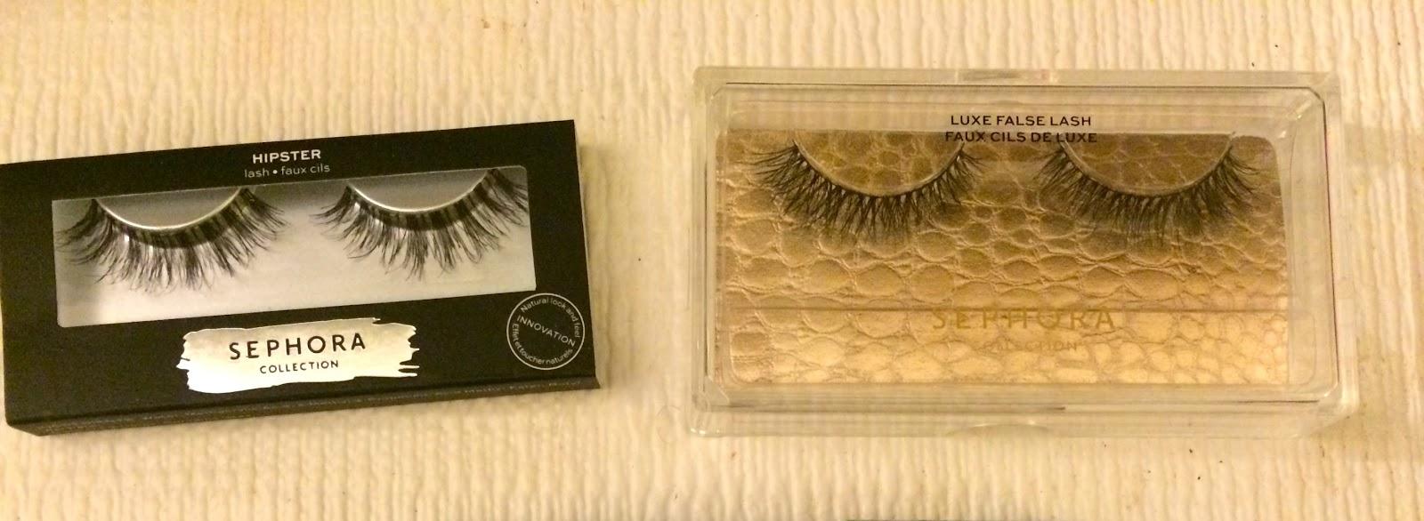 d99eccc37d2 Sephora Collection False Lashes in Hipster $10 (L), Sephora Collection Luxe  False Lash in Quill $17(R)