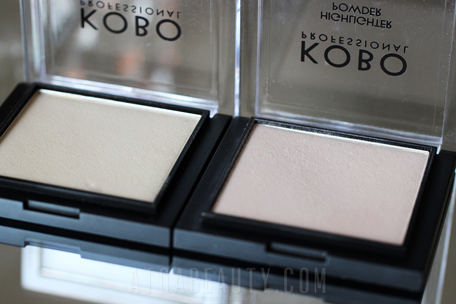 KOBO Professional • Highlighter Powder • 309 Golden Light & 310 Moonlight