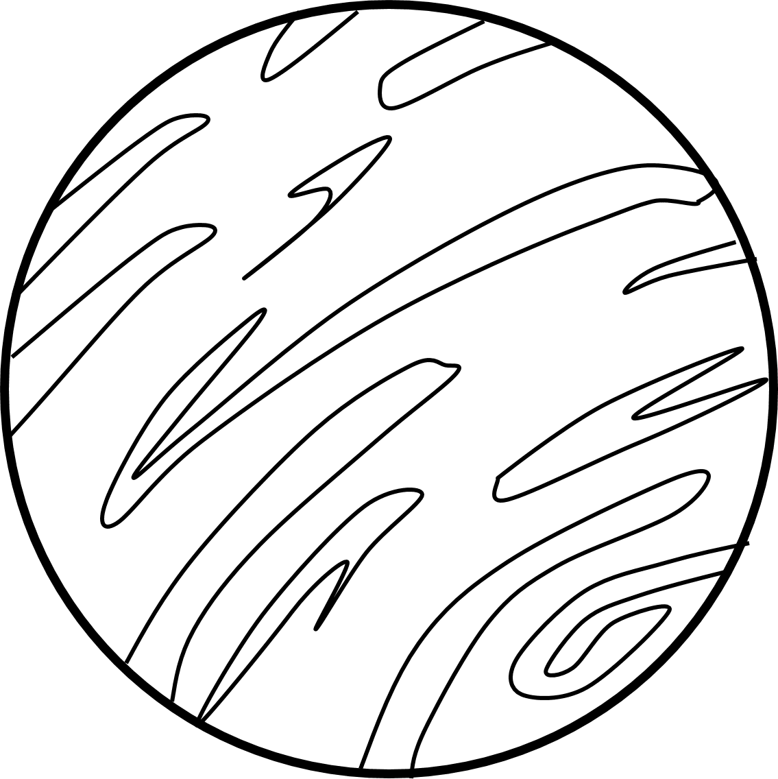Planet Mercury Coloring Page Coloring Pages