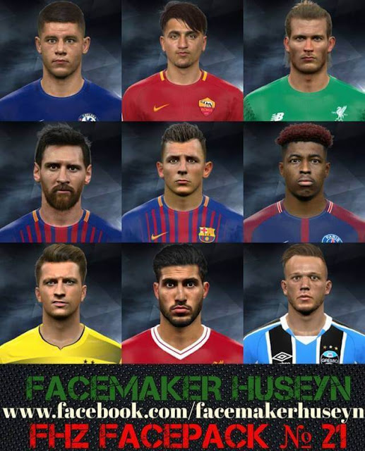 FHZ Facepack No. 21 PES 2017