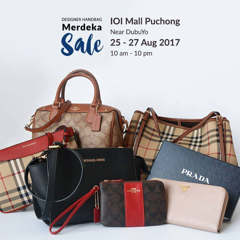 4b47fe45daa657 Prada, Burberry, Michael Kors, Coach Handbag Sale @ IOI Mall Puchong 25 -  27 August 2017