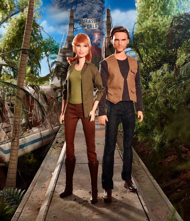 """Barbie lança bonecas do novo filme """"Jurassic World: Reino Ameaçado"""""""