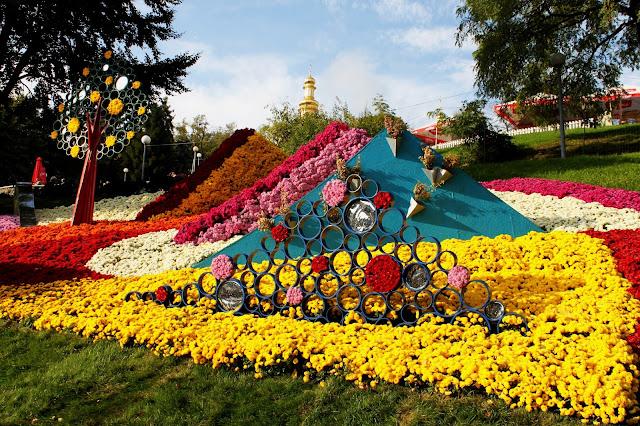 Днепровский район на выставке хризантем 2017