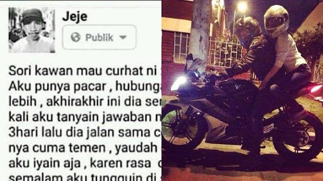 Cowok Ini Curhat di Facebook, Pacarnya Selingkuh dengan Lelaki Kaya tapi Endingnya Bikin Ngakak!