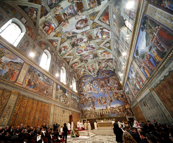 Sistine Chapel. Click here