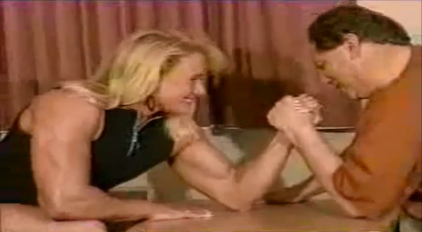 Strong Muscle Women Arm wrestling