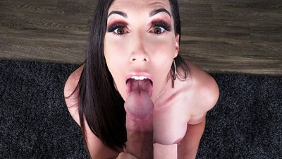 TsPov – Melanie Brooks Making Love To A Big Dick With Her Mouth