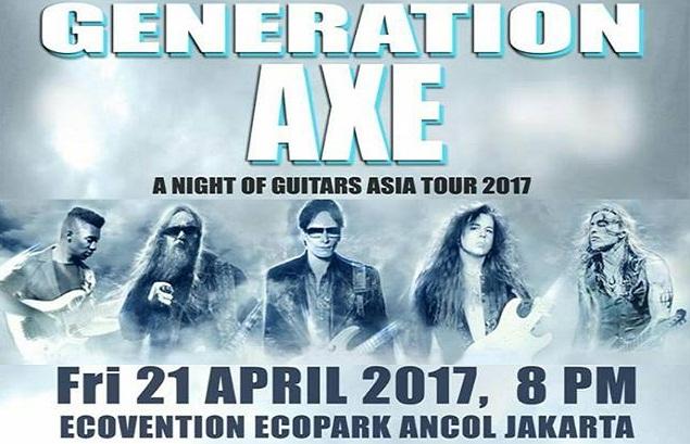 Lima Gitaris Dunia Siap Hentak Jakarta April 2017 Mendatang