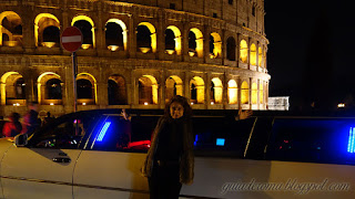Parada no Coliseu durante o passeio de Limousine