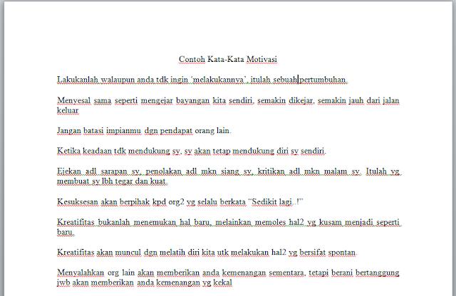 Contoh Kata Motivasi Di Raport Sd Materi Pelajaran 8