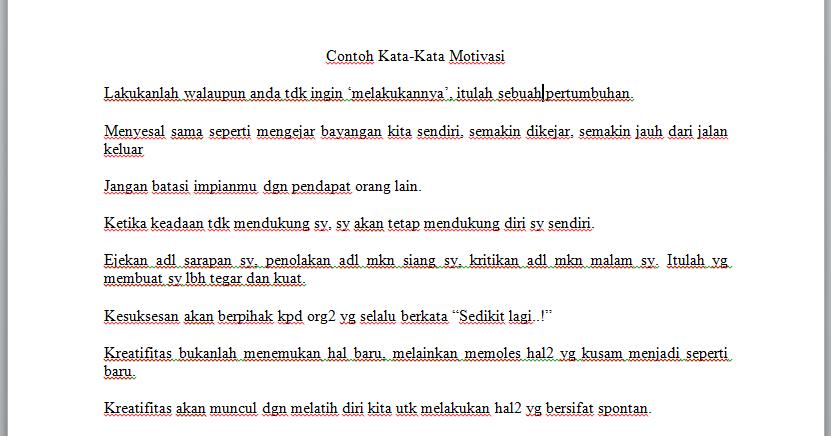 Zona Ilmu 8 Contoh Kata Motivasi Di Raport