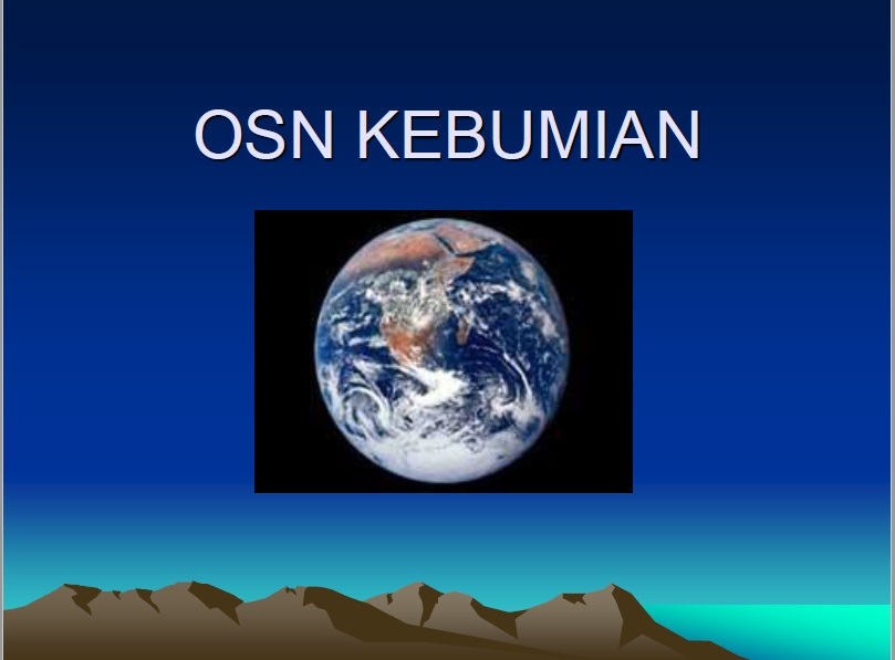Rangkuman Materi Olimpiade Sains Nasional Kebumian